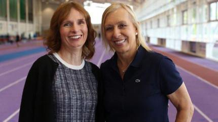 Trans athlete Joanna Harper with Martina Navratilova.
