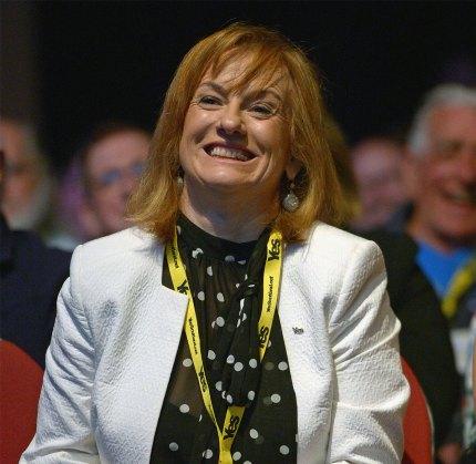 Joan McAlpine smiling