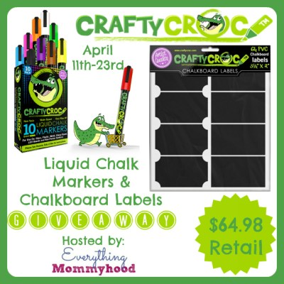 CraftyCroc Markers and Chalkboard Labels Giveaway {US | Ends 04/23}