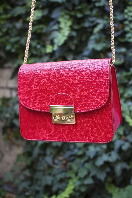Red shoulder bag Sammydress