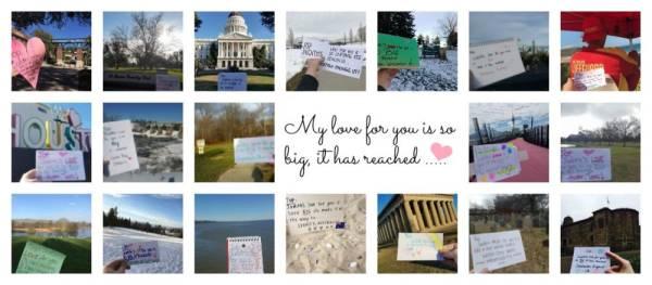 liefdesbriefjes wereldwijd