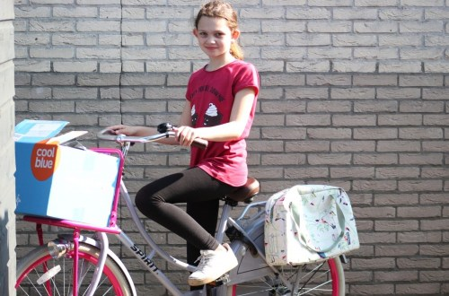 trendy fietstas