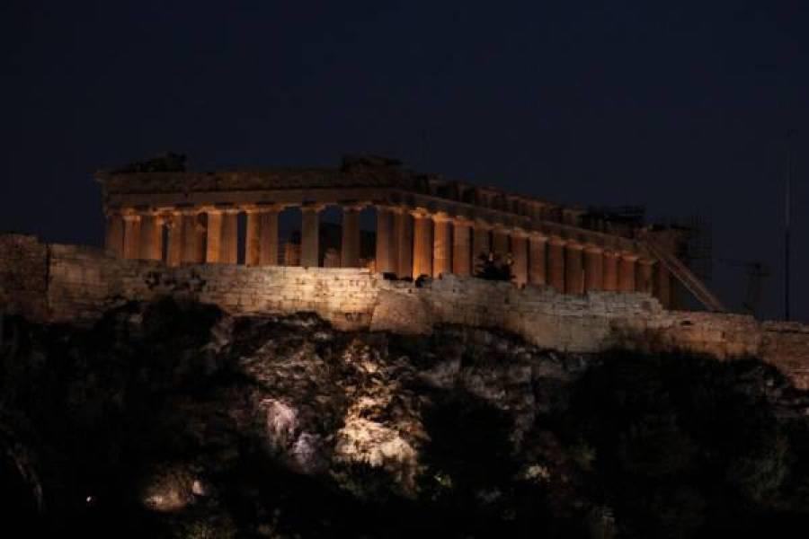acropolis avond athene