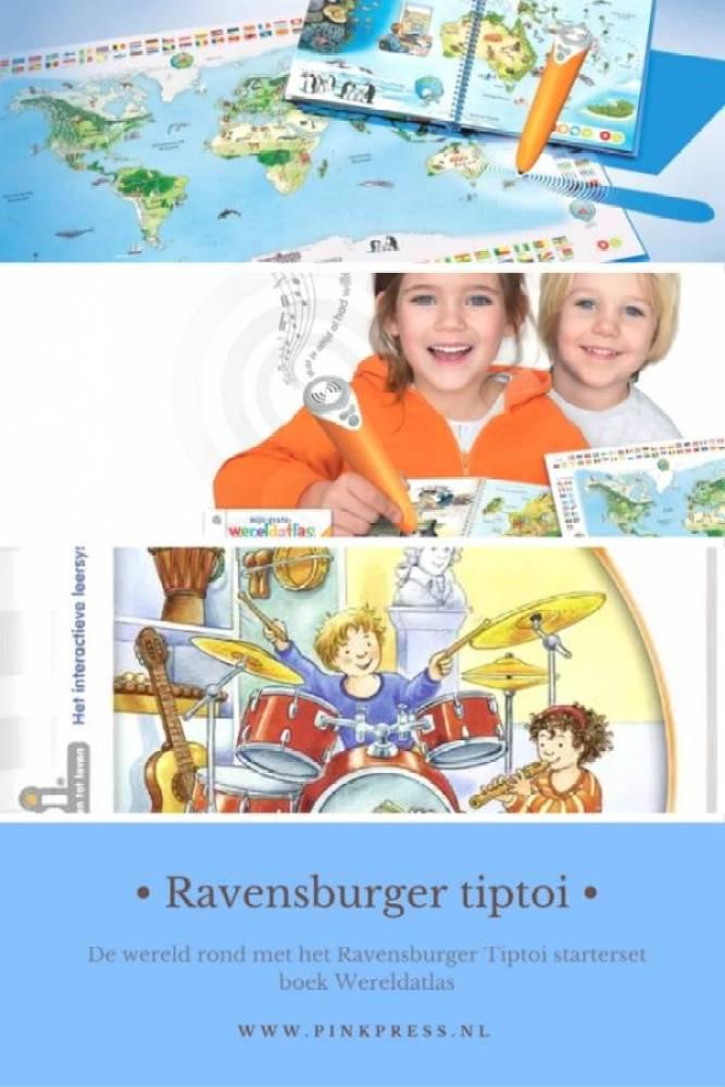 tiptoi - De wereld rond met het Ravensburger Tiptoi starterset boek Wereldatlas