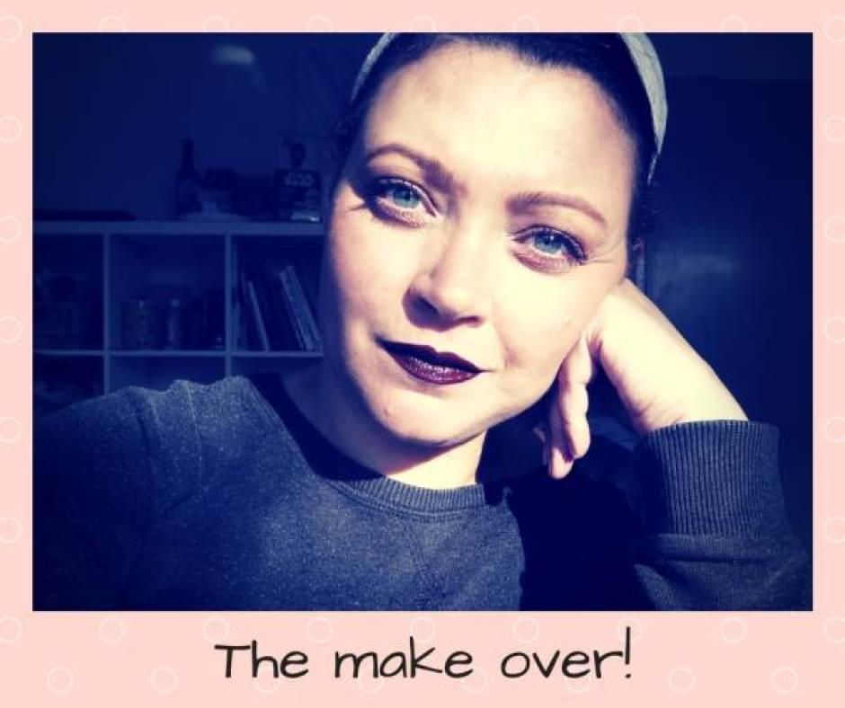 The make over - Beauty   De blogger make over   Peach eyes en donkere lippen