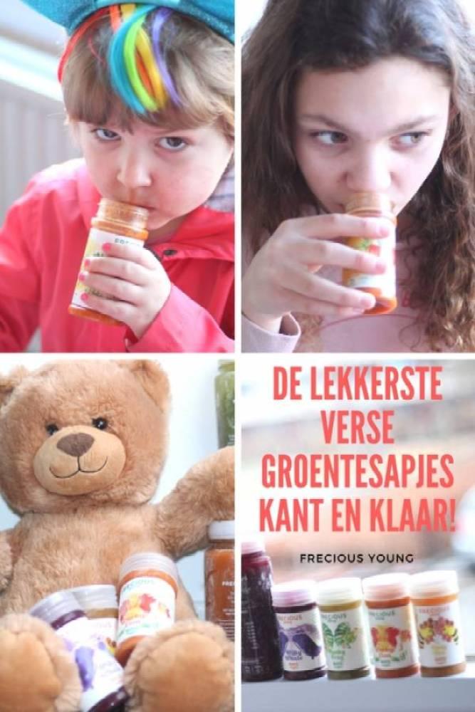 Frecious Young de lekkerste groentesapjes - Een lekkere groentesap voor kinderen die ze elke dag mee naar school willen?