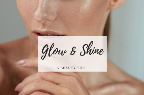 glanzende huid