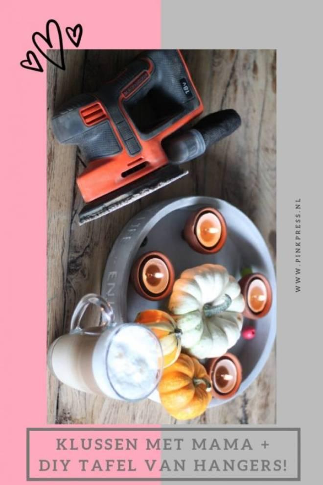 klussen met mama diy tafel van kledinghangers - DIY | Je oude tafel zo goed als nieuw en een tafel van kledinghangers
