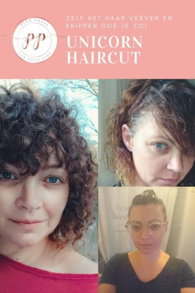 zelf het haar verven en knippen doe je zo unicorn haircut krullen GUHL - Tips voor zelf het haar verven en knippen