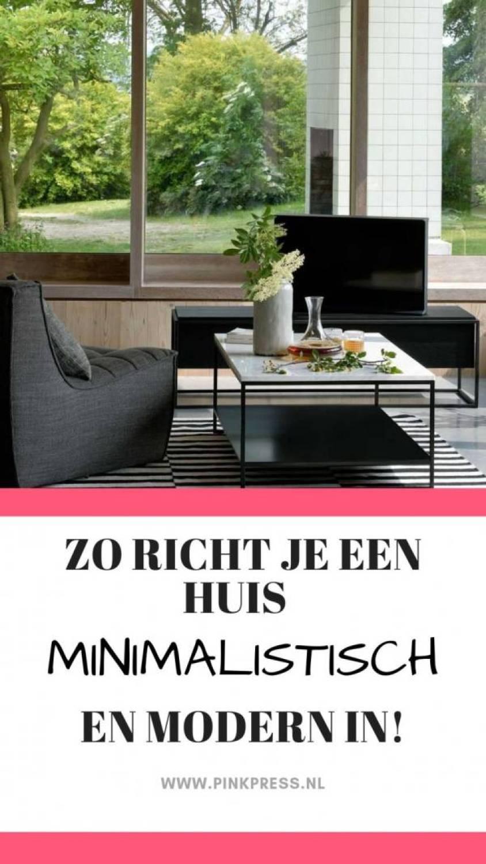 modern en minimalistisch - Zo richt je een huis minimalistisch en modern in!