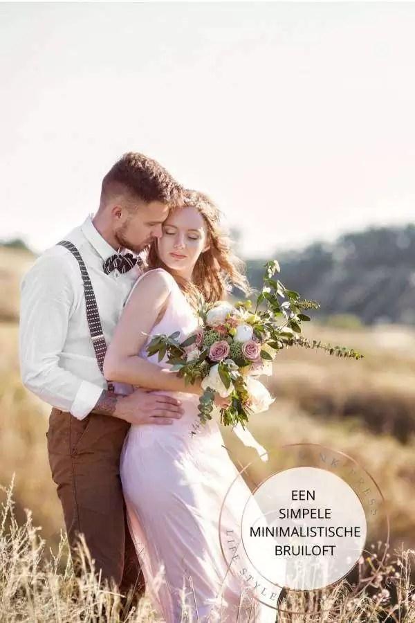 Een minimalistische bruiloft | simpel en alleen voor jullie