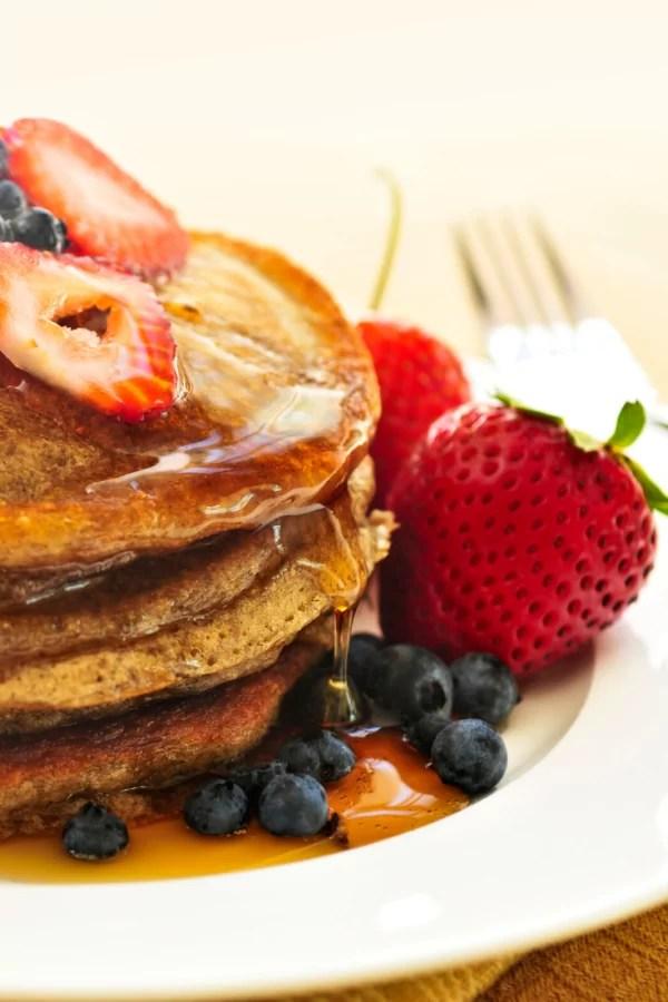 gezonde pannenkoek met fruit