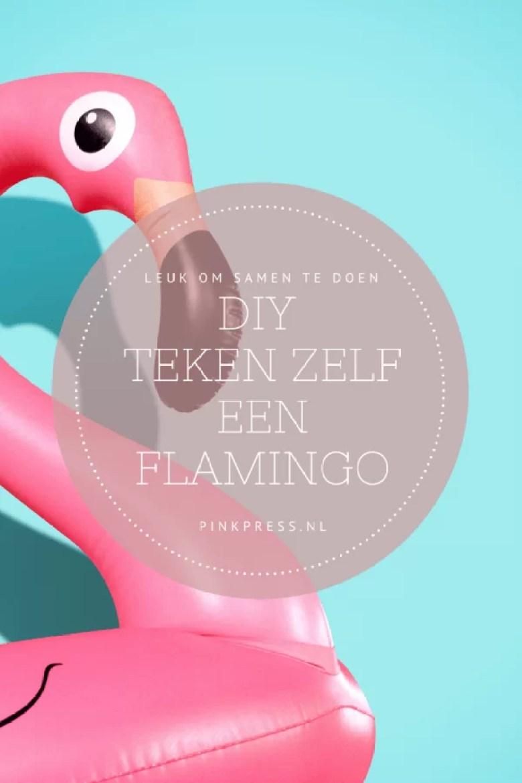 DIY de flamingo tekenen