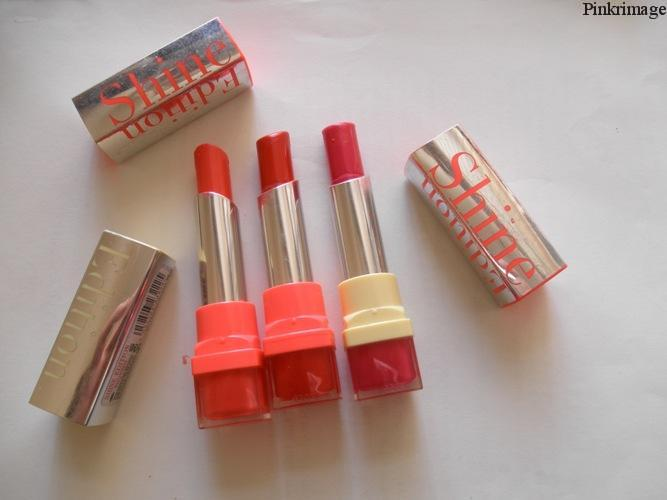 3 Bourjois Shine Edition Lipsticks-Reviews,swatches and LOTD