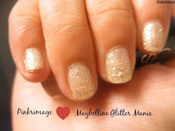 Maybelline Glitter Mania All that glitters Nail Polish- Review & Swatches