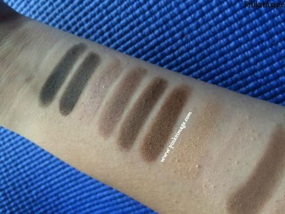maybelline nudes eyeshadow pallette swatches 2