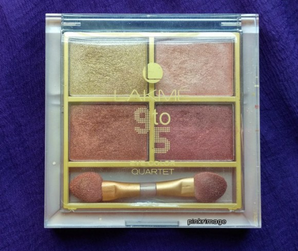 Lakme 9 To 5 Eyeshadow Quartet Desert Rose – Review & Swatches