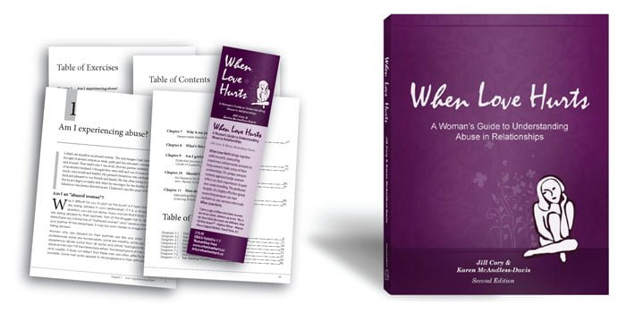 design of When Love Hurts, a Women's Guide to Understanding Abuse in Relationships