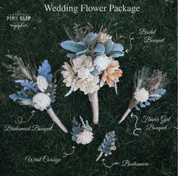 wedding flower package diagram