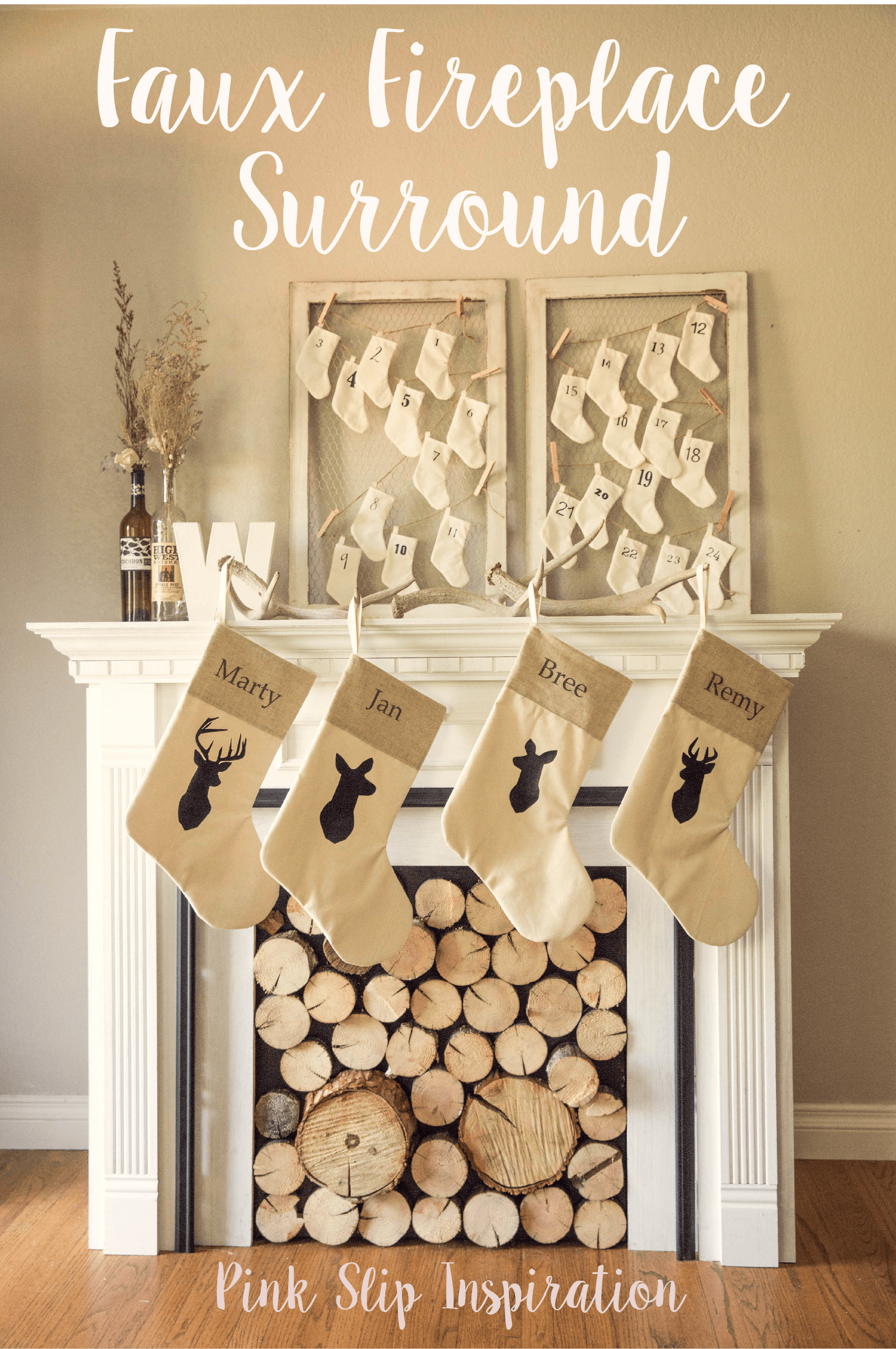 diy creating a faux fireplace surround pink slip inspiration