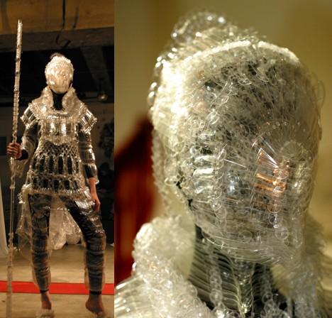 pet bottle armor Futuristic Fashion