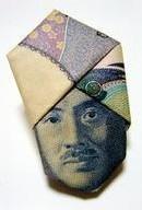 Turban Noguchi: origami made with 1000-yen bill --