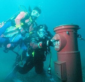 Caja subacuática