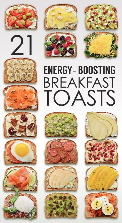 21 energy boosting breakfast toasts // healthy pinterest boards via pinktoastblog.com