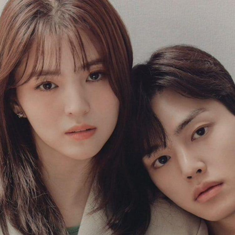 Song Kang and Han So Hee pose for the poster of I Know But