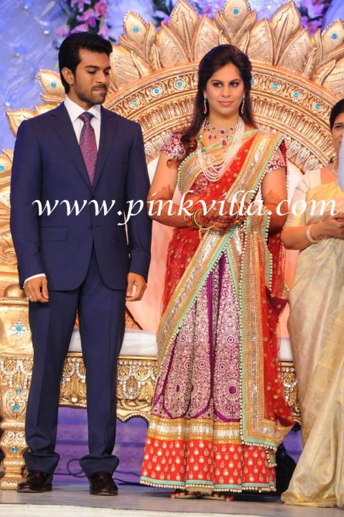 Ram Charan Amp Upasana Kamineni At Their Wedding Reception