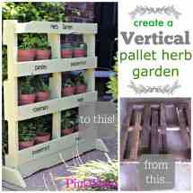 Creating Vertical Pallet Herb Garden - Pinkwhen
