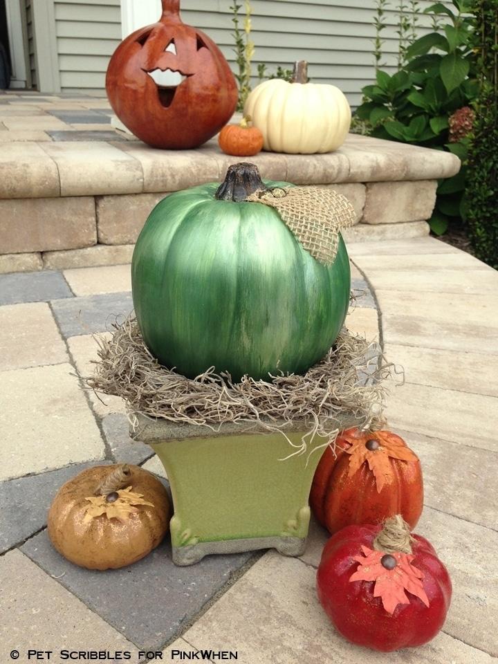 Diy Mercury Glass Pumpkin Pinkwhen
