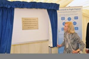 HRH unveiling plaque