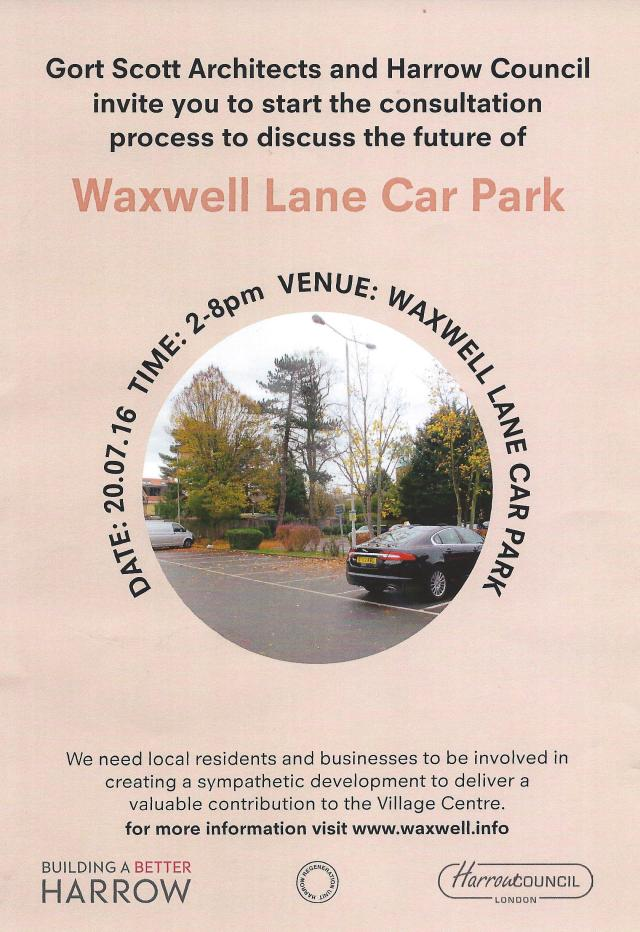 WaxwellLane Car Park'consultation'