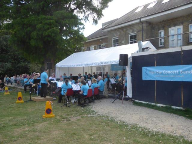 .. On 14 August the Harrow concert Band