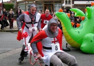 The annual wheel barrow race
