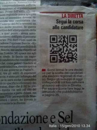 QR Code sulla Gazzetta del Mezzogiorno