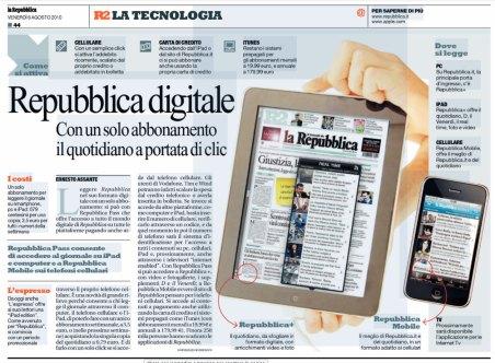 L'articolo di Ernesto Assante, oggi, a proposito di Repubblica +