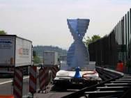 La turbina sperimentale installata sull'A4