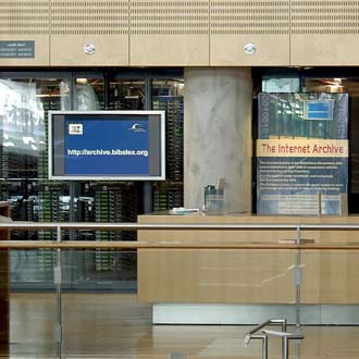 I server dell'Internet Archive all'interno della Biblioteca di Alessandria