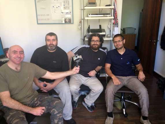 I makers di IVE360 (da sinistra) Roberto Basili, Luca D'Addario, Diego Marra, Nicholas Caporusso
