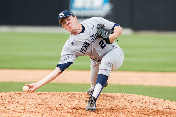 Jack Anderson delivers a pitch during the Purdue baseball game against Penn State on May 14, 2015