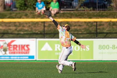 C.J. Price fields a fly ball for the Kokomo Jackrabbits