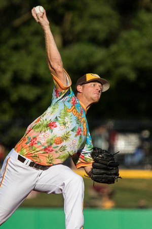 Bryce Rainey pitches for the Kokomo Jackrabbits