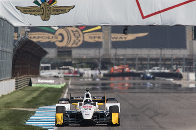 Josef Newgarden on the track for the 2015 Angie's List Grand Prix of Indianapolis at the Indianapolis Motor Speedway