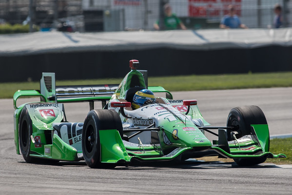 Sebastien Bourdais on the track for the 2015 Angie's List Grand Prix of Indianapolis at the Indianapolis Motor Speedway