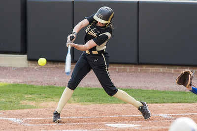 Ashley Burkhardt hits a two run home run for Purdue against Indiana State on April 29, 2015