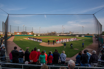 A general view of Oil City Stadium in Whiting, Indiana during the 2015 Midwest Collegiate League All Star Game