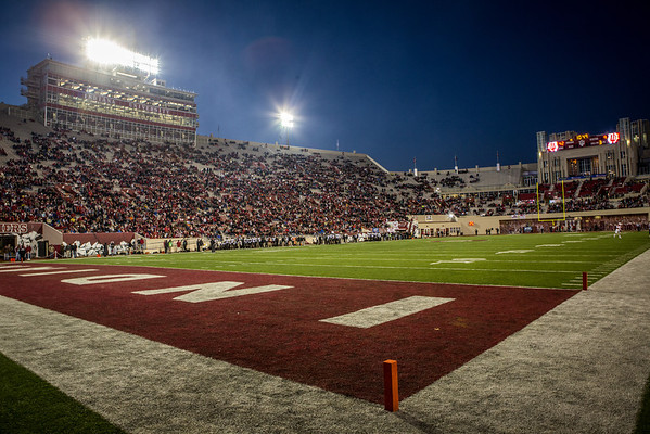A general view of Memorial Stadium in Bloomington, Indiana