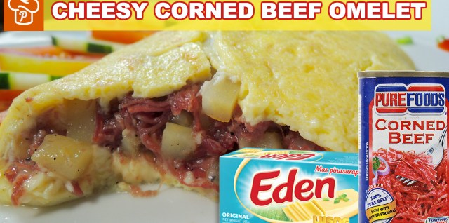 Cheesy Corned Beef Omelet